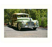 1947 Pontiac Streamliner 'Woody' Station Wagon Art Print