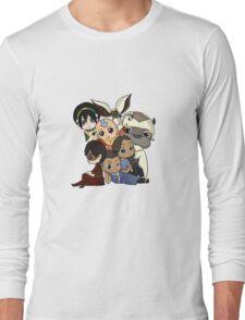 Chibi Avatar Gaang  Long Sleeve T-Shirt