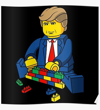 Build A Wall Trump 2016 Poster