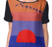Fly Into The Sunset Chiffon Top