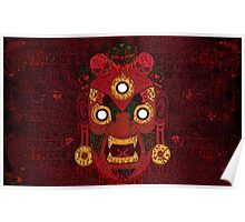 Red Demon Mask Poster