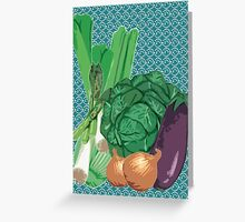 Veggies Greeting Card