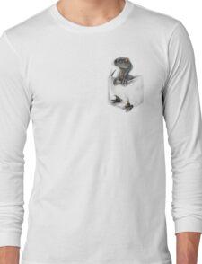 Pocket Protector - Blue Long Sleeve T-Shirt