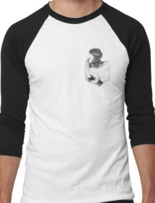 Pocket Protector - Blue Men's Baseball ¾ T-Shirt