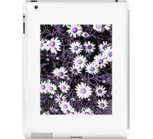 White Daisies - Purple Centers iPad Case/Skin