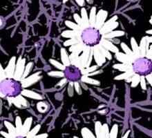 White Daisies - Purple Centers Sticker