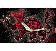 The Red Turtle Dragon Photographic Print