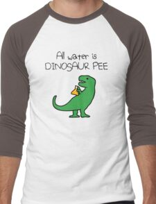 All Water Is Dinosaur Pee (T-Rex) Men's Baseball ¾ T-Shirt