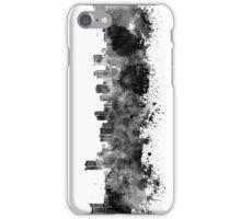 Windsor skyline in black watercolor iPhone Case/Skin