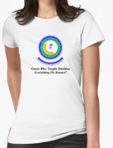 Guess Who Taught Sheldon Everything He Knows?  Womens Fitted T-Shirt