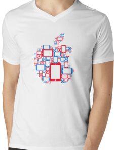 Apple - Portable Mens V-Neck T-Shirt