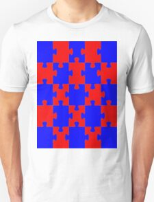 Red and Blue Puzzle T-Shirt