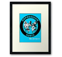 Depression Hurts Framed Print