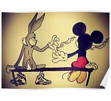 MICKEY BUNNY SMOKING  Poster