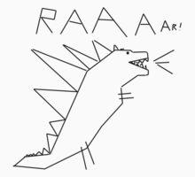 Raaar! Godzilla Doodle Design by DeepFriedArt