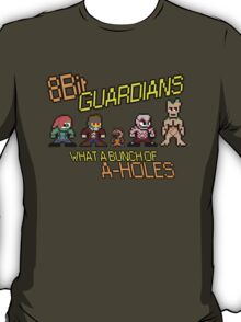 8 Bit Guardians of the galaxy A-Holes T-Shirt