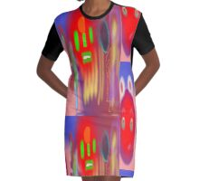 Red Blobs by (Mickeys Art And Design.Biz) Graphic T-Shirt Dress