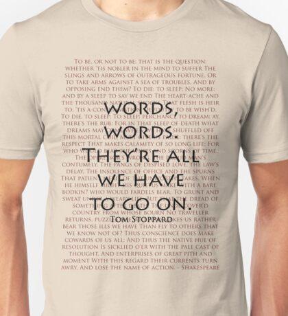 Words, words Unisex T-Shirt