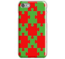 Red and Green Puzzle iPhone Case/Skin