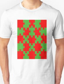 Red and Green Puzzle T-Shirt