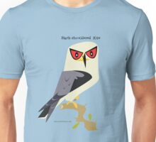 Black-shouldered Kite caricature Unisex T-Shirt