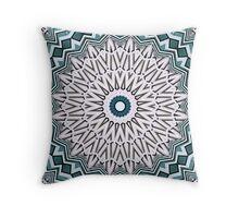 Turquoise Kaleidoscope Throw Pillow