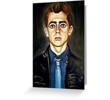 Head of a Boy in a Leather Jacket Greeting Card