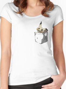 Mimikyu Shirt Pocket Women's Fitted Scoop T-Shirt