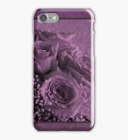 Purple Rosey Delight iPhone Case/Skin