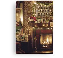 Sherlock Christmas at 221b  Canvas Print