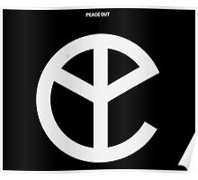 Music Black Peace Out Logo Poster