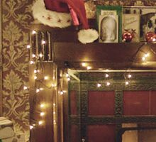 Sherlock Christmas at 221b  Sticker