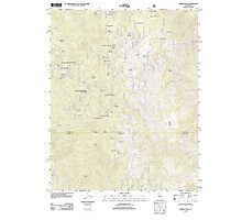 USGS TOPO Map California CA Tobias Peak 20120328 TM geo Photographic Print