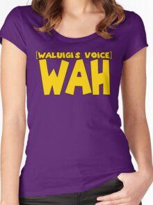 Wah (Waluigi's Voice) Women's Fitted Scoop T-Shirt