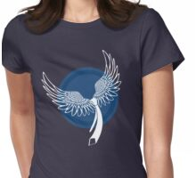 Castiel Wings With Tie in White Womens Fitted T-Shirt