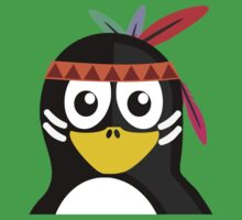 Penguin as Native American  One Piece - Short Sleeve