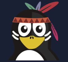 Penguin as Native American  One Piece - Long Sleeve