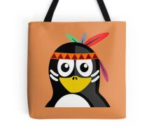 Penguin as Native American  Tote Bag