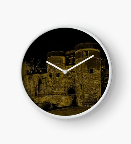 Old London Tower Entrance Clock