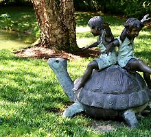 Playtime in the garden by Scott Mitchell