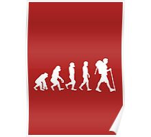 Evolution - white Poster
