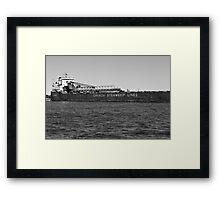 Canada Steamship Lines BW Framed Print