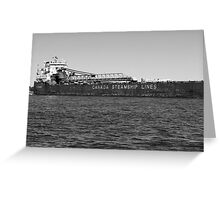 Canada Steamship Lines BW Greeting Card