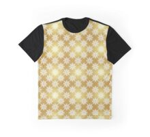 White snowflakes on Golden background seamless pattern Graphic T-Shirt