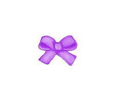Purple Bow by Melissa Middleberg