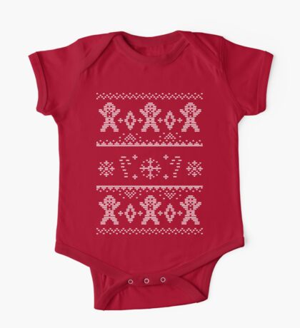 Gingerbread Christmas Sweater One Piece - Short Sleeve