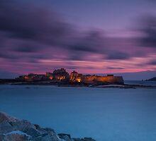 """""""Evening Light, Elizabeth Castle"""" by Bradley Shawn  Rabon"""