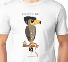 Crested Serpent Eagle caricature Unisex T-Shirt