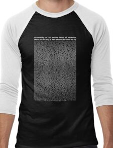 bee movie script ( you can read it) Men's Baseball ¾ T-Shirt