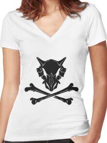 Dark Cubone Women's Fitted V-Neck T-Shirt